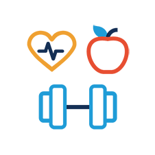 Fitness and fruit icons
