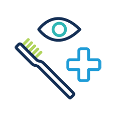 dental, vision, health insurance icons