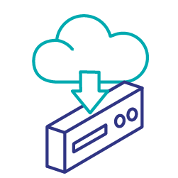 Second party data cloud icon