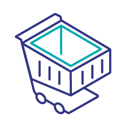 Second party data shopping cart icon