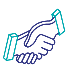 Second party data handshake icon